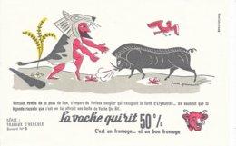 BUVARD  - LA VACHE QUI RIT -  LES TRAVAUX D'HERCULE N° 6  -  DESSINATEUR PAUL GRIMAULT -  TRES BON ETAT - Dairy