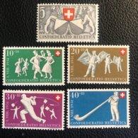 Schweiz Pro Patria 1951 Zumstein-Nr. 51-55 * Ungebraucht Mit Falz - Pro Patria