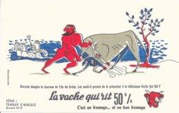 BUVARD  - LA VACHE QUI RIT -  LES TRAVAUX D'HERCULE N° 7  -  DESSINATEUR PAUL GRIMAULT -  TRES BON ETAT - Dairy