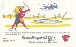 BUVARD  - LA VACHE QUI RIT -  LES TRAVAUX D'HERCULE N° 8  -  DESSINATEUR PAUL GRIMAULT -  TRES BON ETAT - Dairy