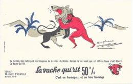 BUVARD  - LA VACHE QUI RIT -  LES TRAVAUX D'HERCULE N° 9  -  DESSINATEUR PAUL GRIMAULT -  TRES BON ETAT - Dairy