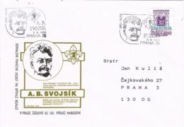 34280. Carta PRAHA (Republica Checa) 1996. SVOJSIK, Fundador Grupo Junik De SCOUTS - Tchéquie
