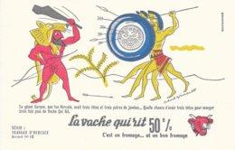 BUVARD  - LA VACHE QUI RIT -  LES TRAVAUX D'HERCULE N° 10  -  DESSINATEUR PAUL GRIMAULT -  TRES BON ETAT - Dairy