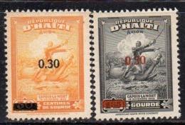 Y536 - HAITI 1947 ,posta Aerea Yvert N. 45+46  *  Linguella  (2380A) Gomma Scura - Haiti
