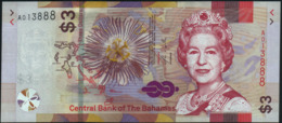 BAHAMAS - 3 Dollars 2019 UNC P.New - Bahamas