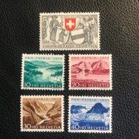 Schweiz Pro Patria 1952 Zumstein-Nr. 56-60 ** Postfrisch - Pro Patria