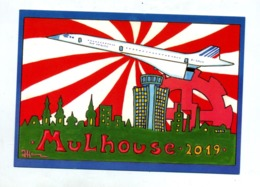 Carte Mulhouse  Dessin Hamm Salon Collection 2019 Theme Concorde - Mulhouse