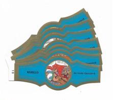 MURILLO  ASTERIX  1B-10B  GOLD  BLUE - Cigar Bands