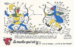 BUVARD  - LA VACHE QUI RIT -  LES DUELS   N° 3  -  DESSINATEUR ABUBOUY -  TRES BON ETAT - Dairy
