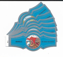 MURILLO  ASTERIX  1B-10B  SILVER  BLUE - Cigar Bands