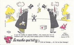 BUVARD  - LA VACHE QUI RIT -  LES DUELS   N° 10  -  DESSINATEUR ABUBOUY -  TRES BON ETAT - Dairy