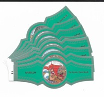 MURILLO  ASTERIX  1B-10B  SILVER  GREEN - Cigar Bands