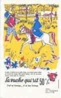 BUVARD  - LA VACHE QUI RIT -  LES TRANSPORTS   N° 10  -  DESSINATEUR  HERVE BAILLE  -  TRES BON ETAT - Dairy