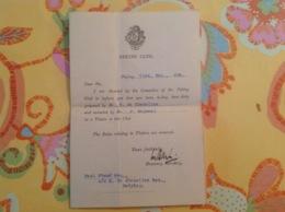 Viaud Consul De France 1936 Peking Club Peiping - Oude Documenten