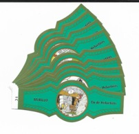MURILLO  ASTERIX  1C-10C  GOLD  GREEN - Cigar Bands