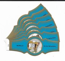 MURILLO  ASTERIX  1C-10C  GOLD  BLUE - Cigar Bands