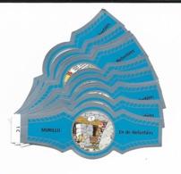 MURILLO  ASTERIX  1C-10C  SILVER  BLUE - Cigar Bands