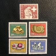 Schweiz Pro Patria 1958 Zumstein-Nr. 86-90 ** Postfrisch - Pro Patria