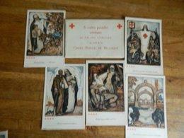 MILITARIA +CROIX ROUGE:POCHETTE ARTISTIQUE DE ALLARD L'OLIVIER -5 CARTES SUR 6 - Cruz Roja