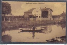 Carte Postale 59. Watten Canotage Sur La Houlle Les Villas Trés Beau Plan - France