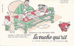 BUVARD  - LA VACHE QUI RIT -  LES METIERS    N° 8  - L'ECRIVAIN   -  DESSINATEUR  HERVE BAILLE  - TRES BON ETAT - Dairy