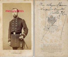 CDV En 1871-officier De Marine?-dédicacée à Mr. HAMON-photo Pierson à Paris - Guerre, Militaire