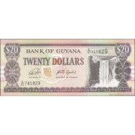 TWN - GUYANA 30g - 20 Dollars 2018 Prefix C/51 - Signatures: Ganga & Jordan - Printer: DE LA RUE UNC - Guyana