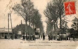94. CPA. LE PERREUX.  Rond Point Plaisance. Bld D'Alsace-Lorraine, Bureau De L'octroi, 1907. Vente De Terrains.  Tramway - Le Perreux Sur Marne