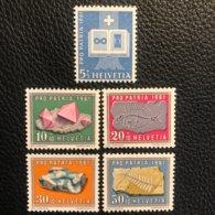 Schweiz Pro Patria 1961 Zumstein-Nr. 103-107 ** Postfrisch - Pro Patria