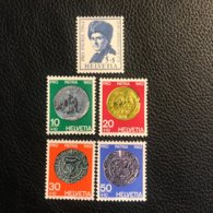 Schweiz Pro Patria 1962 Zumstein-Nr. 108-112 ** Postfrisch - Pro Patria
