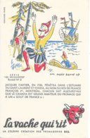 BUVARD  - LA VACHE QUI RIT -  LES DECOUVERTES    N° 3  -  JACQUES CARTIER    -  DESSINATEUR  LUC MARIE  BAILLE  - - Dairy