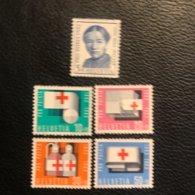 Schweiz Pro Patria 1963 Zumstein-Nr. 113-117 ** Postfrisch - Pro Patria