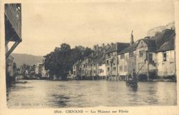 CPA Ornans Les Maisons Sur Pilotis - France