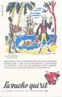 BUVARD  - LA VACHE QUI RIT -  LES DECOUVERTES    N° 10  -  BOUGAINVILLE     -  DESSINATEUR  LUC MARIE  BAILLE  - - Dairy