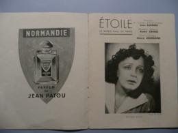 PROGRAMME THEATRE DE L'ETOILE, MUSIC HALL 1947-1948, EDITH PIAF ET LES COMPAGNONS DE LA CHANSON - Programmes