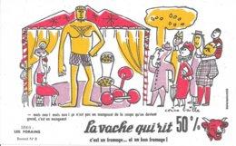 BUVARD  - LA VACHE QUI RIT -  LES FORAINS     N° 8 -    DESSINATEUR  CORINE   BAILLE  - TRES BON ETAT - Dairy