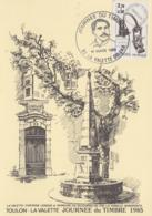 Carte   Locale   1er  Jour   FRANCE    Journée  Du  TIMBRE   LA  VALETTE    1985 - Stamp's Day