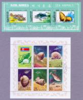 Korea North DPR Korea 1977 & 1979 Marine Life Two S/S CTO Marine Snails And Fish Sea Animals - Meereswelt