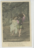 """ENFANTS - LITTLE GIRL - MAEDCHEN - Jolie Carte Fantaisie Portrait Enfants Et Balançoire """"GENTIL PRINTEMPS """" - Portraits"""