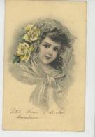 ENFANTS - LITTLE GIRL - MAEDCHEN - Jolie Carte Fantaisie Portrait Fillette Et Fleurs - Edit. RAPHAEL TUCK - SERIE 263 - Portraits