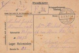 Camp De Prisonniers De Lager Holzminden Vers Salzinnes (Namur) - WW I