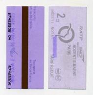 Ticket De Métro Parisien Violet. Metro Métro Tube Underground. Paris Parigi. Violet Purple. France Francia Frankreich - Europe
