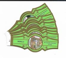 MURILLO  ASTERIX  1K-10K  GOLD  GREEN - Cigar Bands