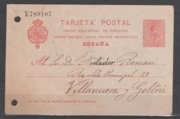 TARJETA ENTERO POSTAL 1910. Circulada. - Ganzsachen