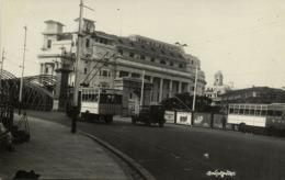 Singapore, Anderson Bridge, Trolley Bus (1910s) RPPC Postcard (2) - Singapour