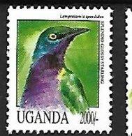 UGANDA - MNH - 1992 -  Splendid Starling  -  Lamprotornis Splendidus - Uccelli Canterini Ed Arboricoli