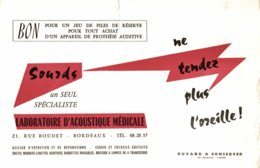 BUVARD LABORATOIRE D'ACOUSTIQUE MEDICALE BORDEAUX - Produits Pharmaceutiques