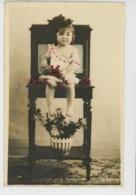 ENFANTS - LITTLE GIRL - MAEDCHEN - Jolie Carte Fantaisie Portrait Fillette Et Cerises - Portraits