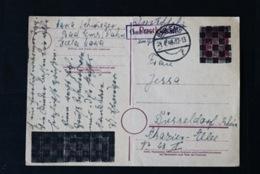 40767) ALL. BESETZUNG Aufbruchausgaben Ganzsache PB 814 II Gestempelt Aus 1945 - Zona AAS