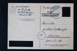 40768) ALL. BESETZUNG Aufbruchausgaben Ganzsache PH 831 AI Gestempelt Aus 1946 - Zone AAS